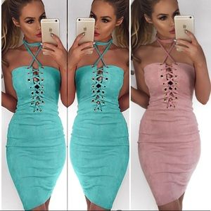 Dresses & Skirts - 🦋🦋 Brazilian Bodycon Sexy Suede Mini Dress